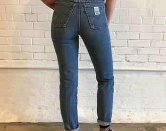 Vintage 80s Levi's White Tab High Rise Tapered Jeans
