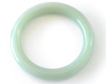 Pale Green Jade Bangle Bracelet (10mm)