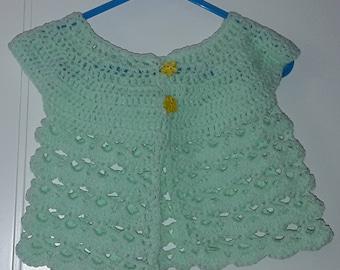 Babies crocheted cardigan