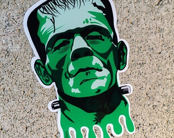 "Frankenstein's Monster Contour Cut 4"" Vinyl Sticker"