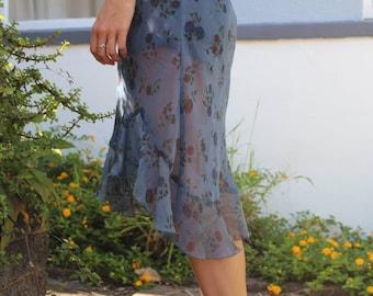 Sheer floral festival maxi dress