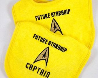 Delightful Future Starship Captain Bib