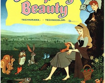 Vintage Sleeping Beauty Movie Poster A3/A2/A1 Print