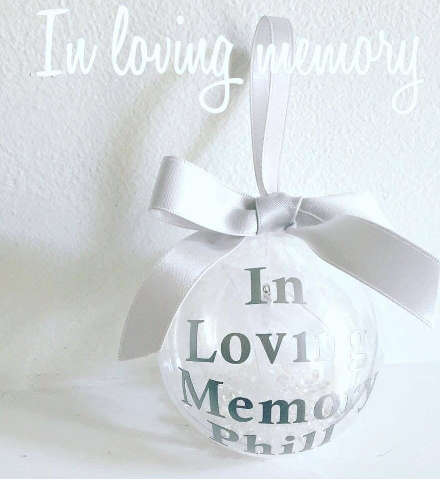 Personalised In Loving Memory Christmas Bauble DIY Vinyl Decal