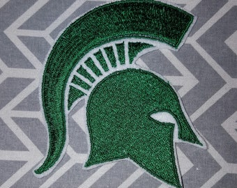 Michigan State College Iron on No Sew Embroidered Patch Applique
