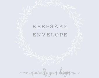 Keepsake Envelope Pocket Page for Your Baby Book