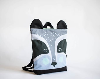 Badger backpack for kids, Kids backpack, children backpack, Printed waterproof backpack