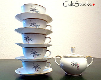 Vintage of 60s delightful tea service