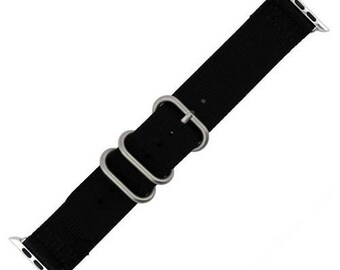 Generic Smart Watch Bands in Nylon fits 42mm or 38mm, your choice of black or white