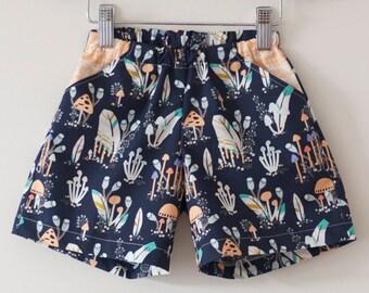 Girls shorts sewing pdf pattern quick sew