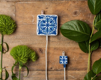 Multipack Charger Decals for iPhone, iPad & Apple Laptop Chargers - Moroccan Design - Beautiful gift for design lovers