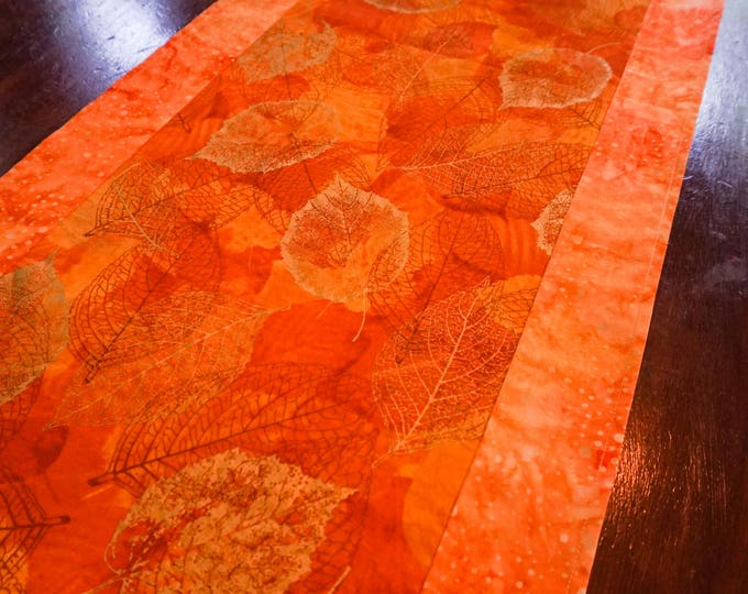 Gold Table Runner-Burnt Orange Decor-Table Linens-Centerpiece for Table-Metallic Gold-Cabin Decor-Home Decor Gifts-Watercolor Home Decor
