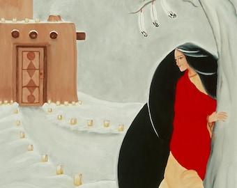 "Giclee Print Fine Art Paper Native American Print Surreal Print Metaphysical Print ""The Resonance of Three"""