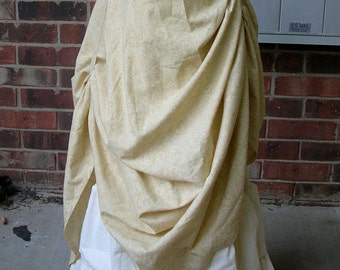 Custom LONG Steampunk Ruffle skirt with drawstring bustle