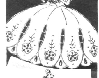 Southern Belle - Crinoline Lady cutwork embroidery pattern mo7015