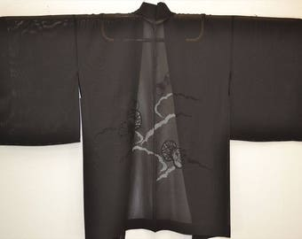 HAORI JACKET H19a - Classic Black See Through Drum Cloud - Sha