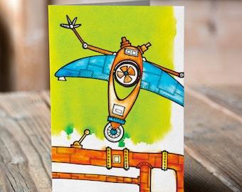 Robot Greetings card