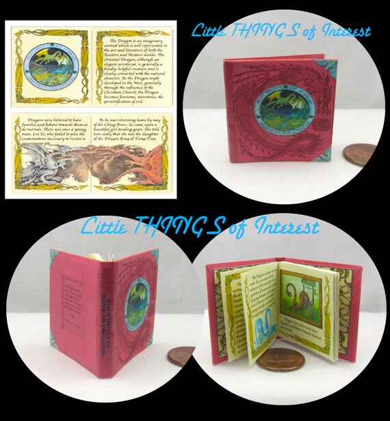 The COMPLETE BOOK of DRAGONS Book 1:6 - Play Barbie Scale Readable Illustrated Book Potter Magic Wizard Witch Phicen 1/6