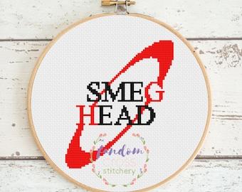 Smeg Head Cross Stitch PDF Pattern | Instant Digital Download | Geek Cross Stitch Pattern | Red Dwarf Cross Stitch Pattern