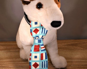 Red White and Blue Slip Through Collar Pet Tie