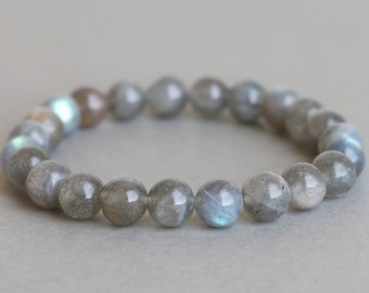 Labradorite Stretch Bracelet Gemstone Bracelet Stacking Bracelet