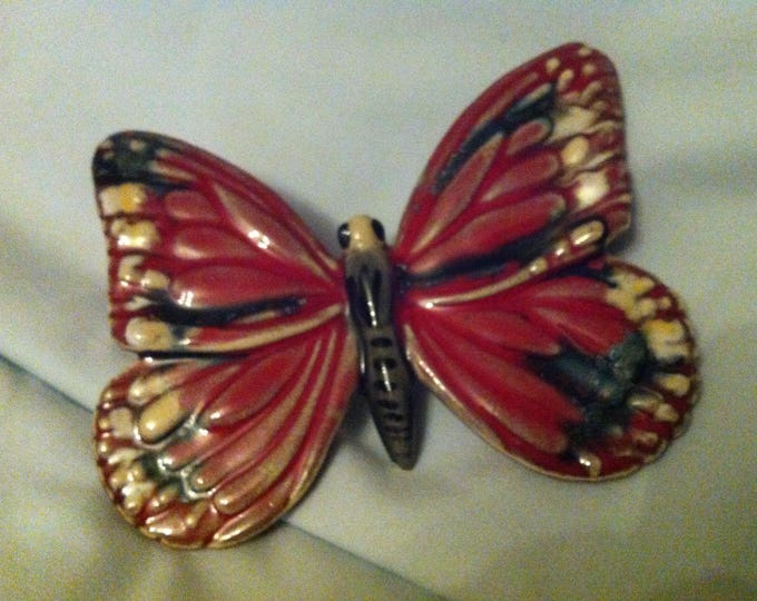 Vintage wall ceramic Butterfly decoration beautiful painted