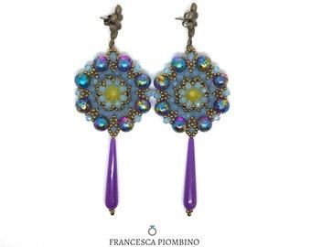 Clara earrings, hand-sewn. Clara earrings, handsewn. Made in Italy