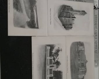 Vintage lot of 4 Pittsburgh PA Postcards Lot 1D