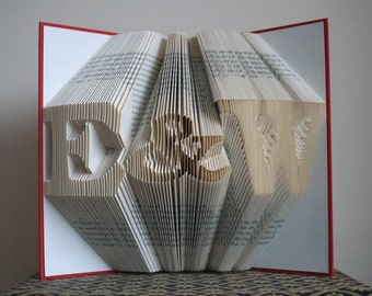 Valentines Day Gift, Folded Book Art, Anniversary Gift, Wedding Decor, Gift for Him, Gift for Her, Wedding Gift, Personalized Gift, Keepsake