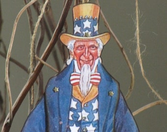 Uncle Sam Patriotic Articulated Paper Doll