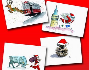 New Year Postcards
