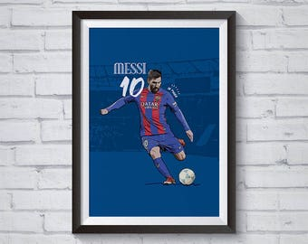 Lionel Messi FC Barcelona / Printable / Wall Art / Poster / Decor