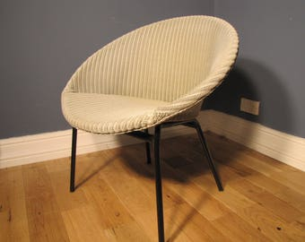 Grey Lloyd Loom Lusty Satellite Chair 1950s