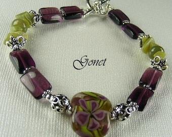 Red Fluorite Bracelet Heather Pomander  (Heather Collection)  by Gonet Jewelry Design
