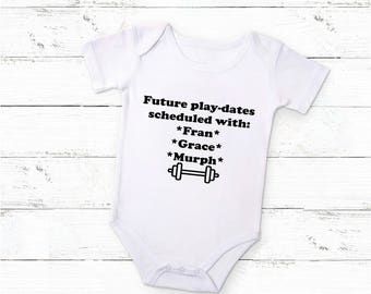 CrossFit Baby BodySuit / Exercise Baby / Baby Exercise Bodysuit / Crossfit