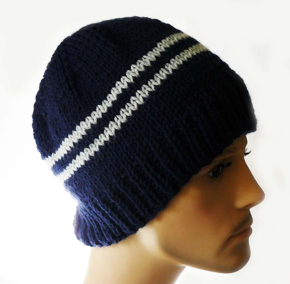 Knitting PATTERN, Knit Beanie Pattern, Mens Knit Hats Patterns, Knit ...
