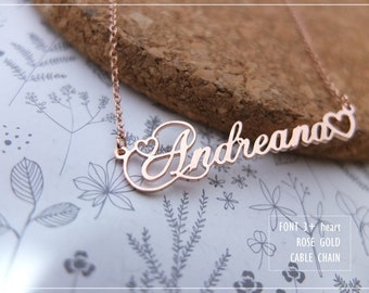 Personalized Name Necklace-Custom Name Necklace-Custom Name Gift-Your Name Necklace-Bridesmaids Jewelry-Children Names-Gift for mom. #NF03H