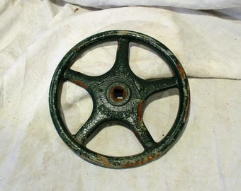 Valve Handle, Kennedy Factory Salvage Industrial, Dark Green, Possibly Ship Valve