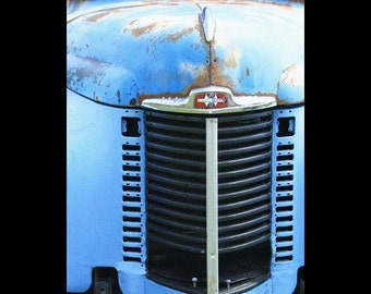 Truck Photograph-Vintage Truck-Blue International Truck-Fine Art Photography-Truck Grill-Rustic Home Decor-Blue Wall Art-Masculine Decor