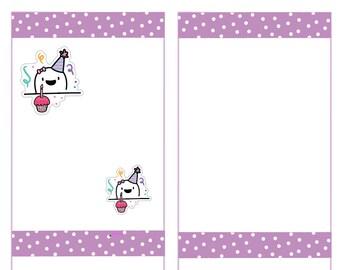 Fingie Happy Birthday Stickers, Planner Stickers -012