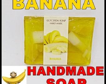 Glicerin Soap Hand Made, 75g, BANANA, Bulgarian Rose