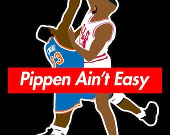 Pippen Ain't Easy Dunk Ewing Chicago New York Shirt  Hall Of Fame DBLR Classic Icon Mens