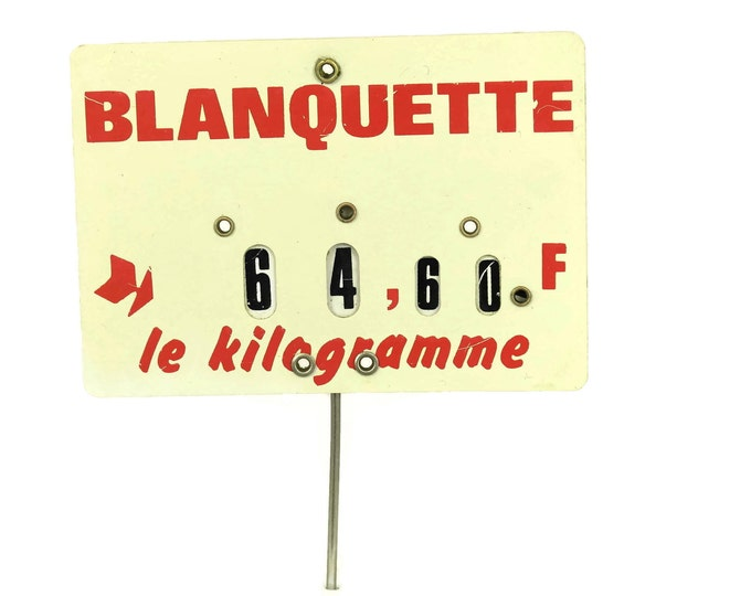 French Butchers Price Ticket Label. Vintage Store Display Sign. Country Kitchen Decor. Deli Meat Lover& Foodie Gift.
