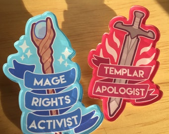 Dragon Age Acrylic Pins