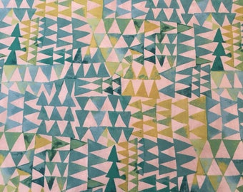 Painted in Turquoise, Dreamer Collection by Carrie Bloomston for Windham Fabrics, 1/2 yd