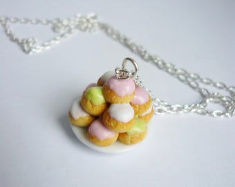 Adorable little cake necklace