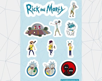 """Sticker pack """"Rick and Morty"""""""