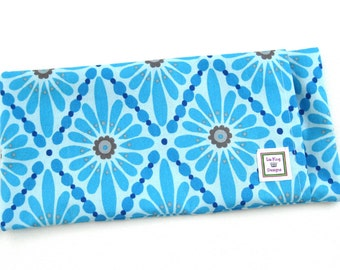 Heating Pad (Microwavable) Blue Diamonds // Buckwheat and Rice Heating Pad // Cold Pack // Heat Pack // Removable Cover