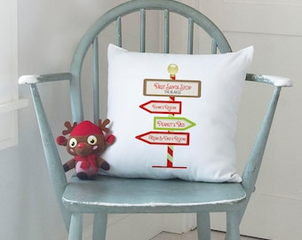 Family Christmas Cushion, Personalized Pillow for Xmas, Square Printed Cushion (OHSO824)