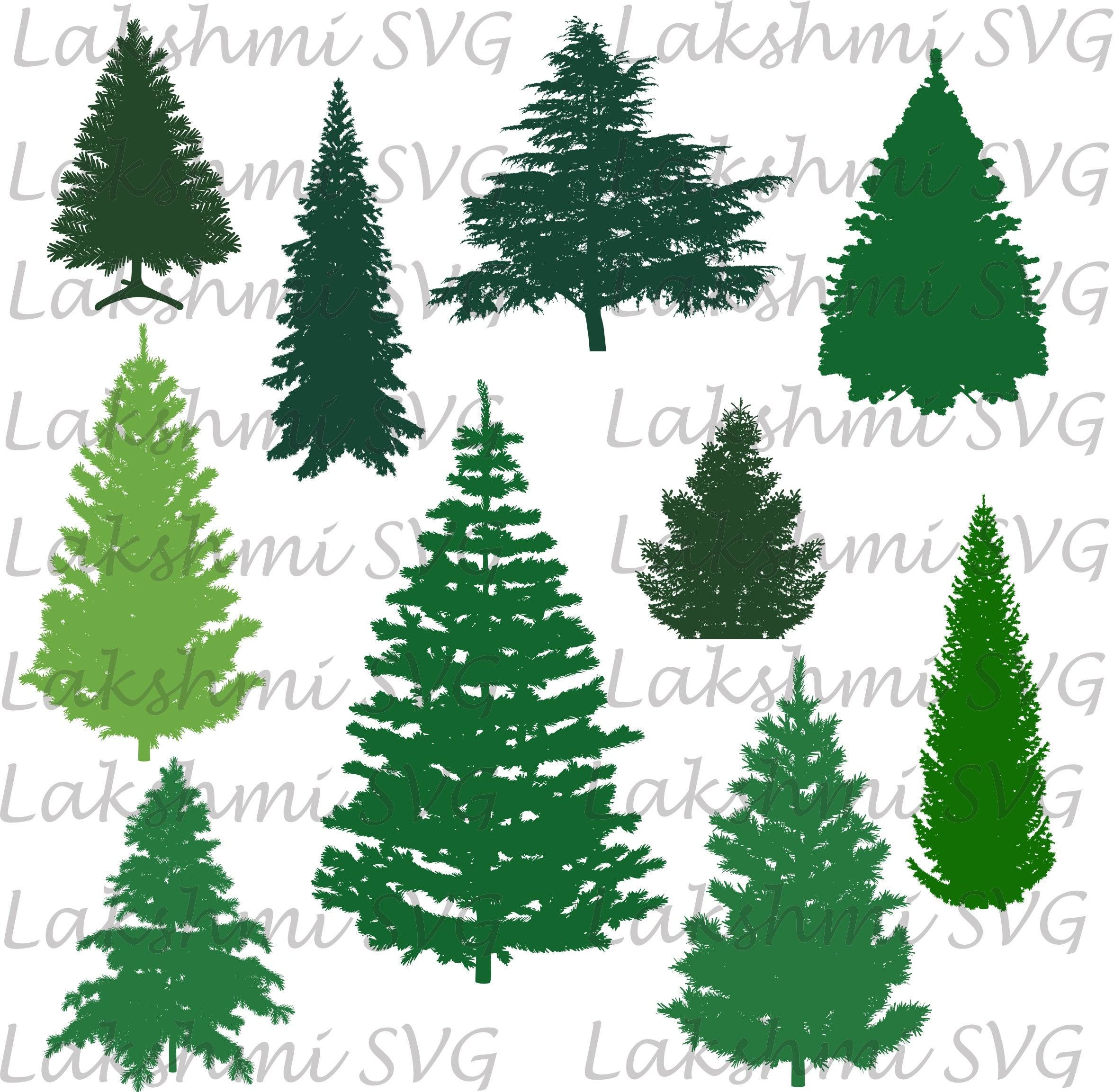 Christmas tree Svg pine tree svg Cut Files Tree silhouettes